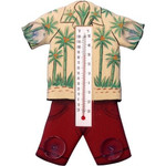 Hawaiian Shirt Wood Window Thermometer - 21784-07