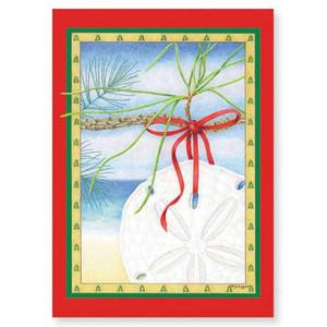 "Christmas Cards ""Sand Dollar"" 16 Per Box 25-401"