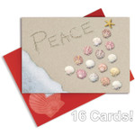 Christmas Cards Peace in the Sand and Shells Box of 16