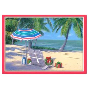 "Christmas Cards ""Tropical Holiday"" Box of 16 - 25-424"