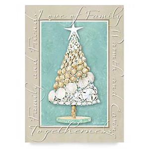 Christmas Cards Beach Sentiment 16 Per Box 25-444