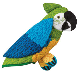 Blue Green Parrot Oven Mitt 25229BG