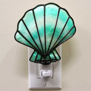 Capiz Shell Nightlight Fan Shell 25929FS