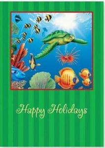 Christmas Cards Sea Turtle Box of 16 - 26-603