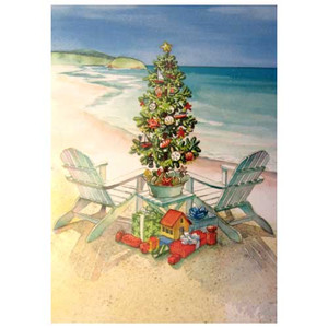 Christmas on the Beach Holiday Cards - Box of 16 Cards 26-687