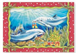"Christmas Cards ""Dolphin Holiday"" Box of 16 - 27-089"