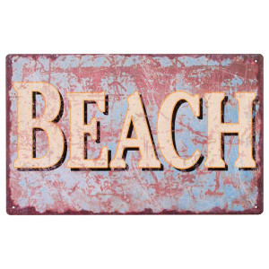 Beach Metal Tropical Sign 32666-BEA