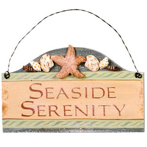 "Beach Small Wood Sign ""Seaside Serenity"" - 33051E"