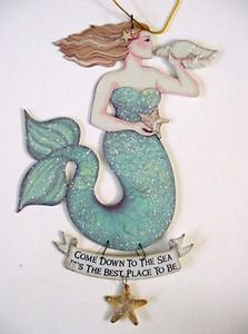 "Magical Mermaid Tin Sign ""Come to the Sea..."" - 33114C"