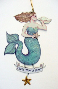"Magical Mermaid Tin Sign ""Once Upon a Beach"" - 33114F"