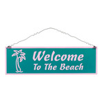 """Tin Large Sign """"Welcome to the Beach"""" - 33368C"""