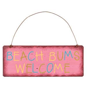 Beach Bums Welcome Metal Sign 35129B