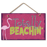 "Flamingo Wood Sign ""Totally Beachin'""- 41-808"