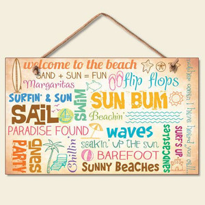"""Beach Sign """"Welcome to the Beach"""" - 41-825"""