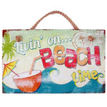 """Beach Wood Sign """"Livin' on Beach Time"""" - 41-826"""