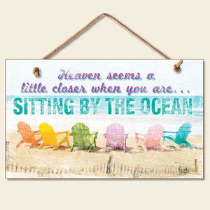 """Beach Sign """"Sitting by the Ocean"""" - 41-852"""