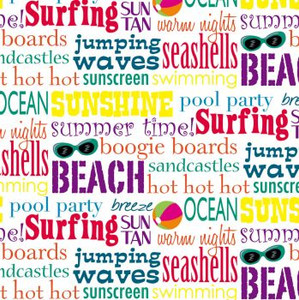 Beach Collage Paper Cocktail Napkins Pk of 20 - 4NC251