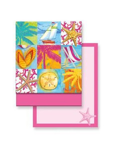 Beach Patchwork Matchbook Memo Notepad - 50-101