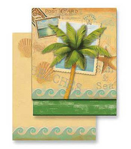 Palm Tree Sun Sea Matchbook Memo Notepad 50-116