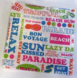 Beach Text Theme Paper Cocktail Napkins 64392B