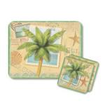 "Palm Tree ""Sun and Sea"" Mouse Pad and Coasters Set - 801-38"