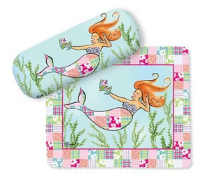 Mermaid Eyeglass Case with Cleaning Cloth - 804-46