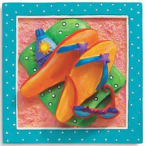 Flip Flops Beach Time Magnet 832-25