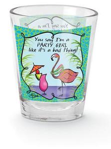 "Pink Flamingo Shot Glass ""Party Girl"" - 853-17"