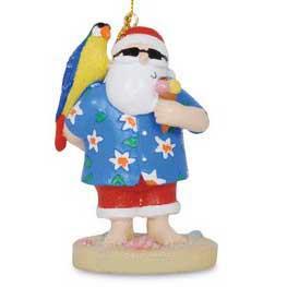 Parrot Santa Christmas Ornament 855-71