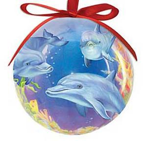Ornament Ball Dolphin Cove 857-00
