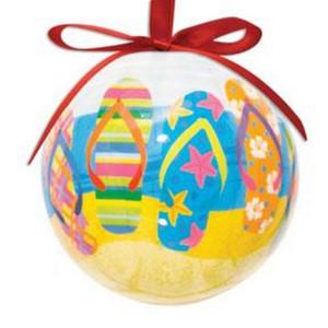 Flip Flops Ceramic Ball Christmas Ornament  - 857-12