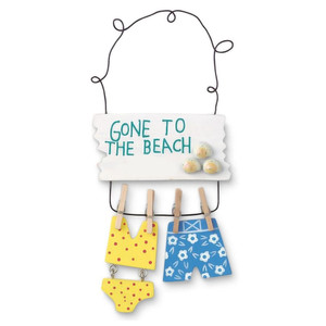 """Bathing Suits """"Gone to the Beach"""" Christmas Ornament - 864-02"""