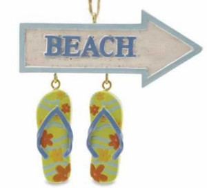 Flip Flops and Beach Theme Christmas Ornament - 866-35