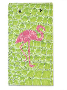 Pink Flamingo Snazzy Note Paper Pad with Croco Cover 375 Sheets  - 945-27