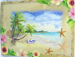"Beach Birthday Card ""Tropical Paradise"" - BDG13189"