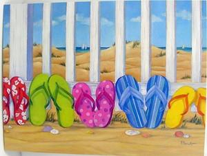 Flip Flop Beach Birthday Card - BDG13196