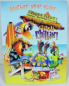 "Parrot Birthday Card ""Global Chillin"" - BDG15572"