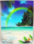 """Tropical Island Birthday Card """"Rainbow Falls"""" - BDG41721"""
