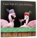 Pink Flamingo Greeting Card - Birthday - BDQ23189