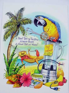 Parrot Greeting Card - BKG45950