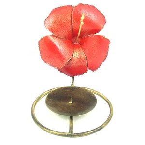 Hibiscus Flower Decorative Metal Votive Candle Holder  - BS220-H