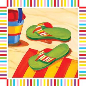 Flip Flops Paper Cocktail Napkins Pk of 20 - 006911