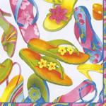 Paper Cocktail Napkins Flip Flops C403790