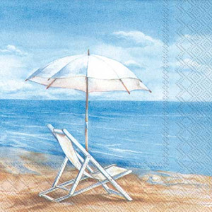 Beach Chair Vacation Paper Cocktail Napkins C517500