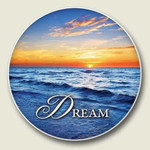 "Ocean ""Dream""  Absorbent Stone Coaster for Car Cup Holder - CC-172"