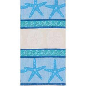 Blue Shells Jacquard Towel R2548