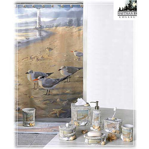 At the Beach Shower Curtain S1023MULT