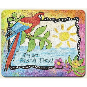 """Parrot """"Paradise Found"""" Glass Surface Saver Cutting Board Small - SM_CUT-819"""