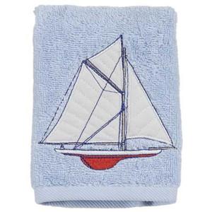 Embroidered 100% Cotton Sailing Finger Towel TE1062WBLU