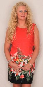 Aloha Shift Dress Tropical Birds & Flowers - RED -  360-3406